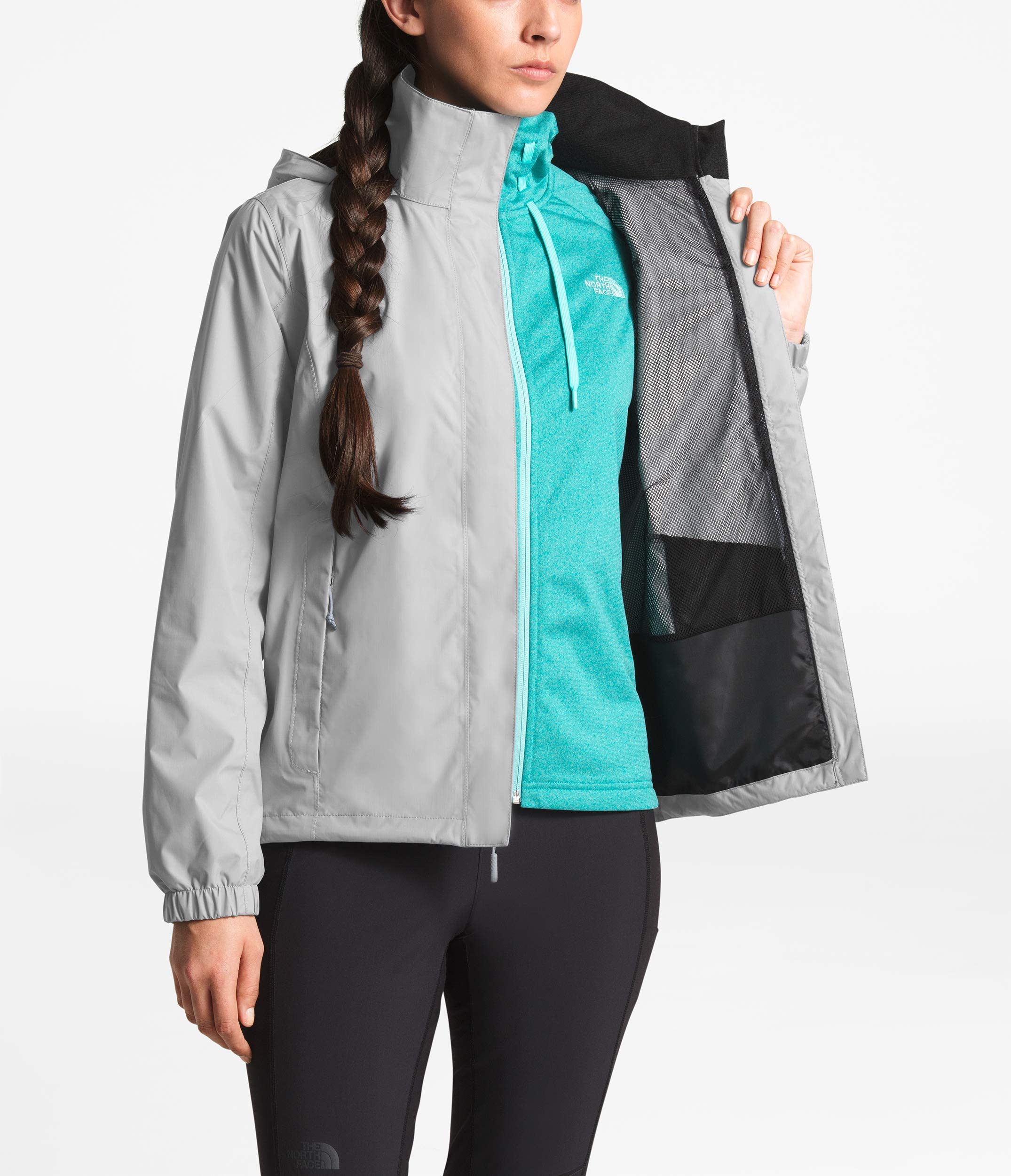 The North Face Women Resolve 2 Jacket - Mid Grey & TNF Black - M by The North Face (Image #6)