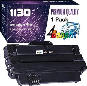 4Benefit Compatible 330-9523 2MMJP 7H53W Toner Cartridge Used for Dell 1130 1130n 1133 1135 1135n Printer (1-Pack,Black)
