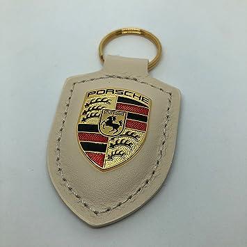Porsche llavero Escudo piel blanco wap050 0960e