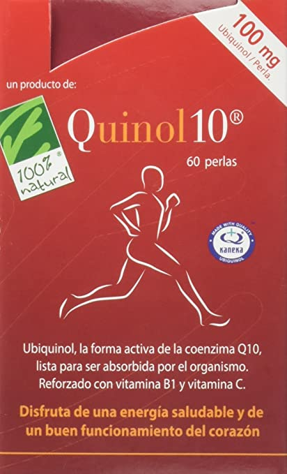 100% natural Quinol10 Vitaminas - 60 Cápsulas