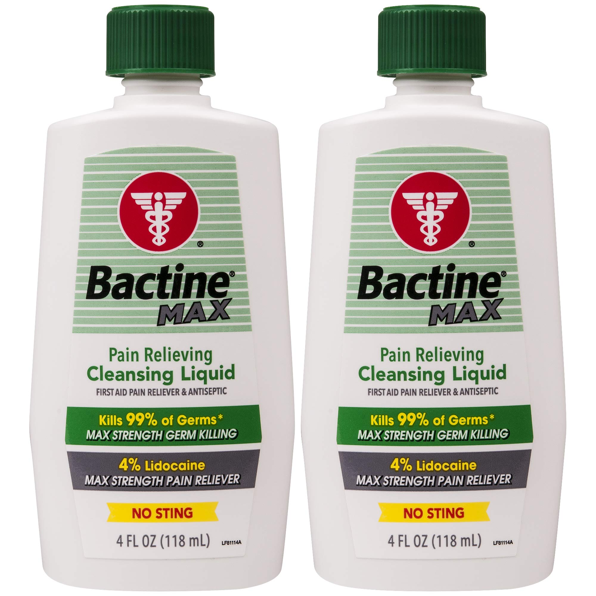Bactine Max Pain Relieving Cleansing Liquid, 4 Oz, 2Count by Bactine