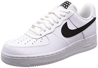online store b9166 d9c15 Image Unavailable. Nike Mens Air Force 1  07 White Black Leather Trainers  ...