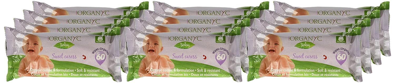Organyc - Toallitas Bebé bio Organyc, 60ud: Amazon.es: Salud y cuidado personal