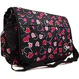 Girls Womens Chervi Butterfly Hearts School College Laptop Satchel  Messenger Bag cc926641d446d
