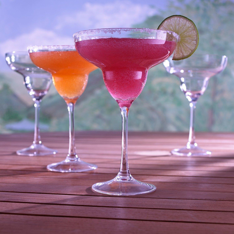 Set of 4 Durable Margarita Glasses Elegant Party Margarita Stemware Glassware Set Le'raze