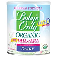 Baby's Only Dairy with DHA & ARA Toddler Formula - Non GMO, USDA Organic, Clean...