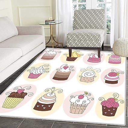 Amazon Modern Floor Mat Pattern Cupcakes Bakery Pastry Design Magnificent Bakery Kitchen Design Style