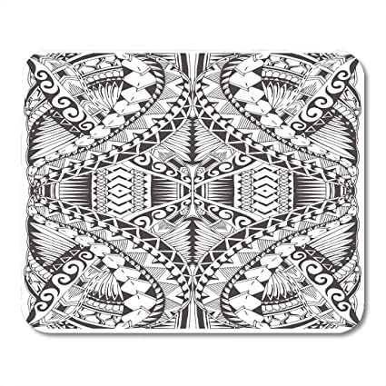 f93c7f825 Emvency Mouse Pads Polynesian of The Samoa Maori Tattoo Pattern Lines Tribal  Abstract Mouse pad 9.5""