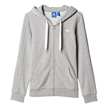 adidas sweatshirt jacke grau