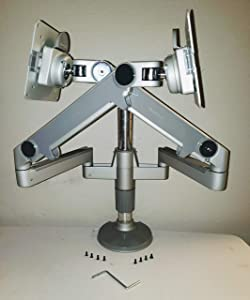 Humanscale M/Flex Dual-Monitor Mounting Arm with dual Bolt/Clamp Mount (Model MF22S11D12)