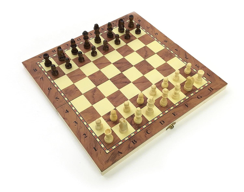34cm Jeu d'échecs de se replier Tableau de qualité faite main pièces en bois complet Fide conformes à la norme stimuler votre cerveau exercice votre Esprit Stands Out Ltd chess34