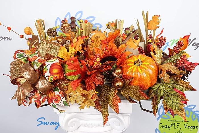 Amazon fall floral arrangement centerpiece autumn pumpkin
