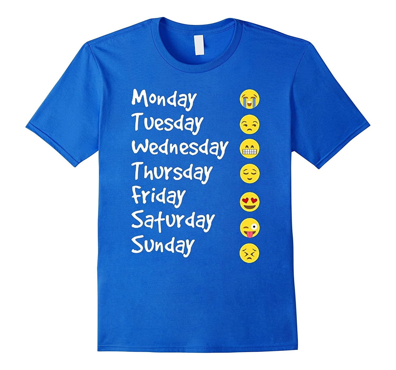 fbe432fe Emoji Love Your Emoticon 7 Days A Week T-Shirt-BN – Banazatee