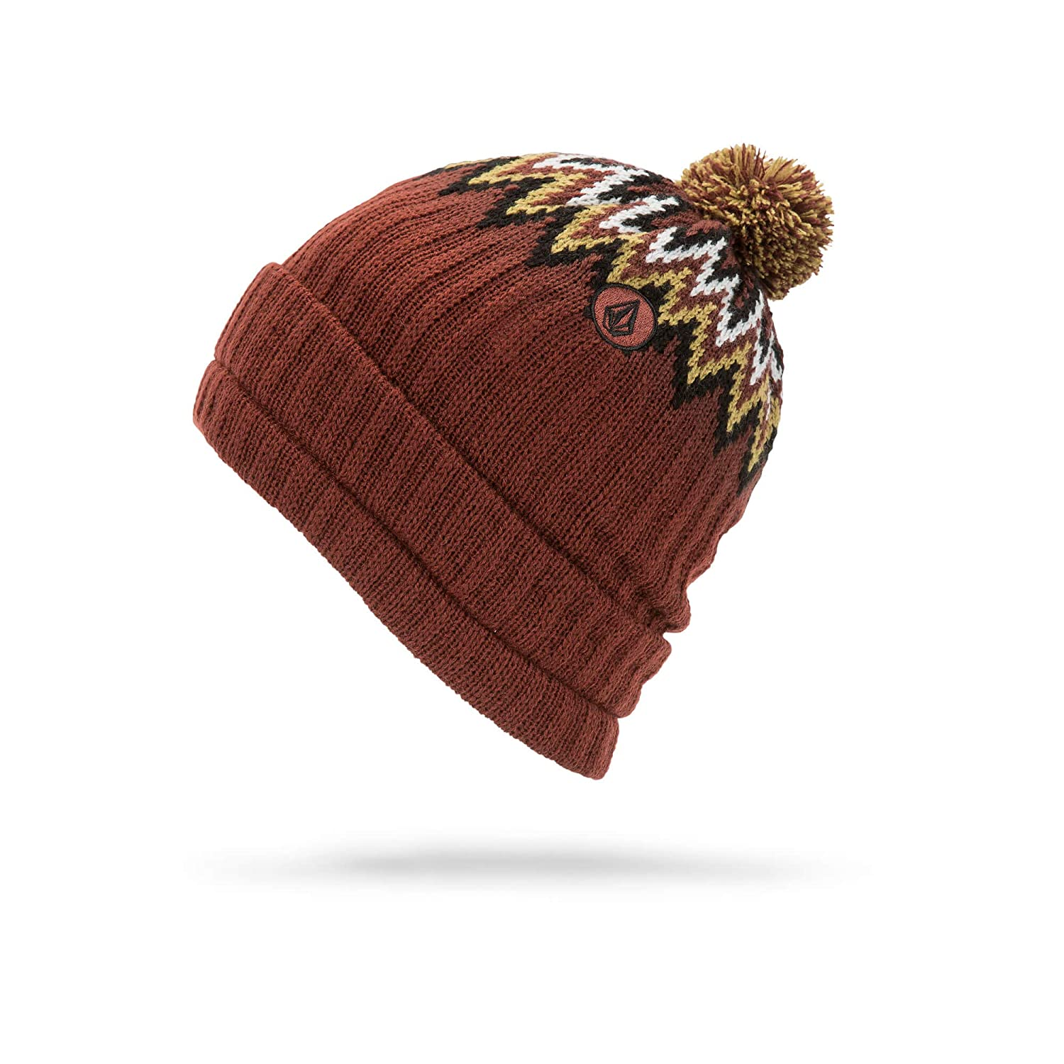 Volcom Mens Jump Stalker Roll Over Fit 2 in 1 Beanie