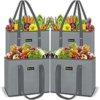 4Pk Baleine Reusable Grocery Bags Shopping Bag w/Handles Deals