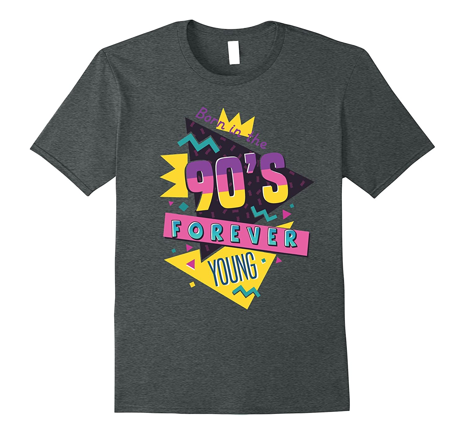 Born In The 90s Shirt Nineties Retro Forever Young Quote-PL