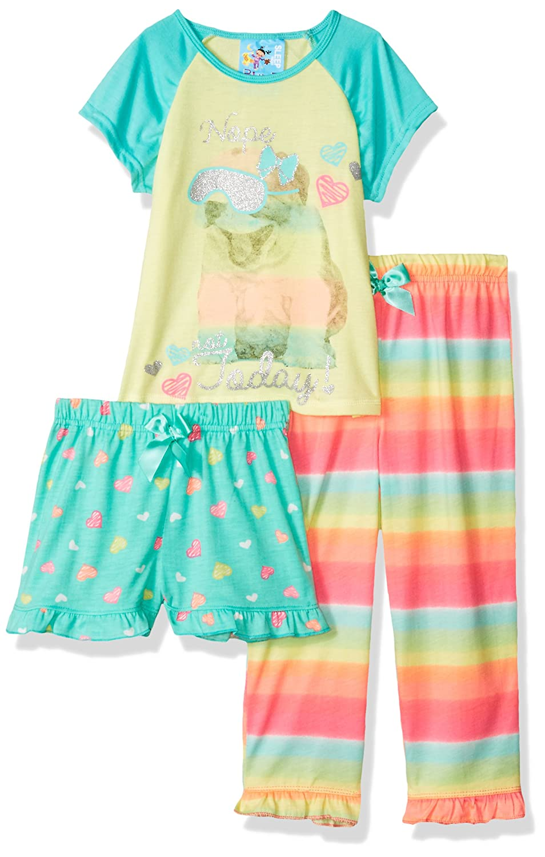 Baby Bunz Girls Toddler Today 3 Pc Sleepwear Sets
