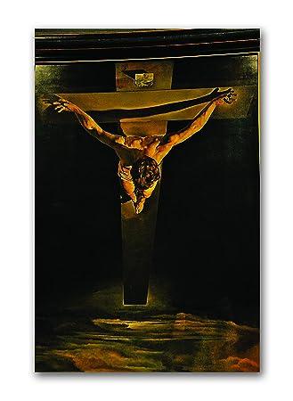 tamatina lienzo pintura - Cristo de San Juan de la Cruz - Canavas artístico de Salvador Dalí: Amazon.es: Hogar