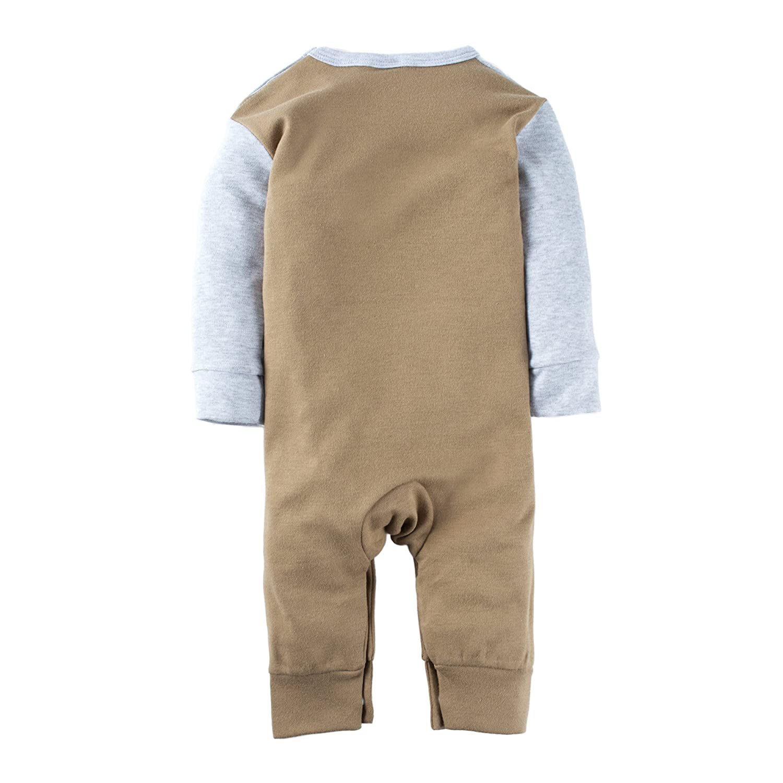 BIG ELEPHANT Baby Boys 1 Piece Long Sleeve Romper Pajama L38