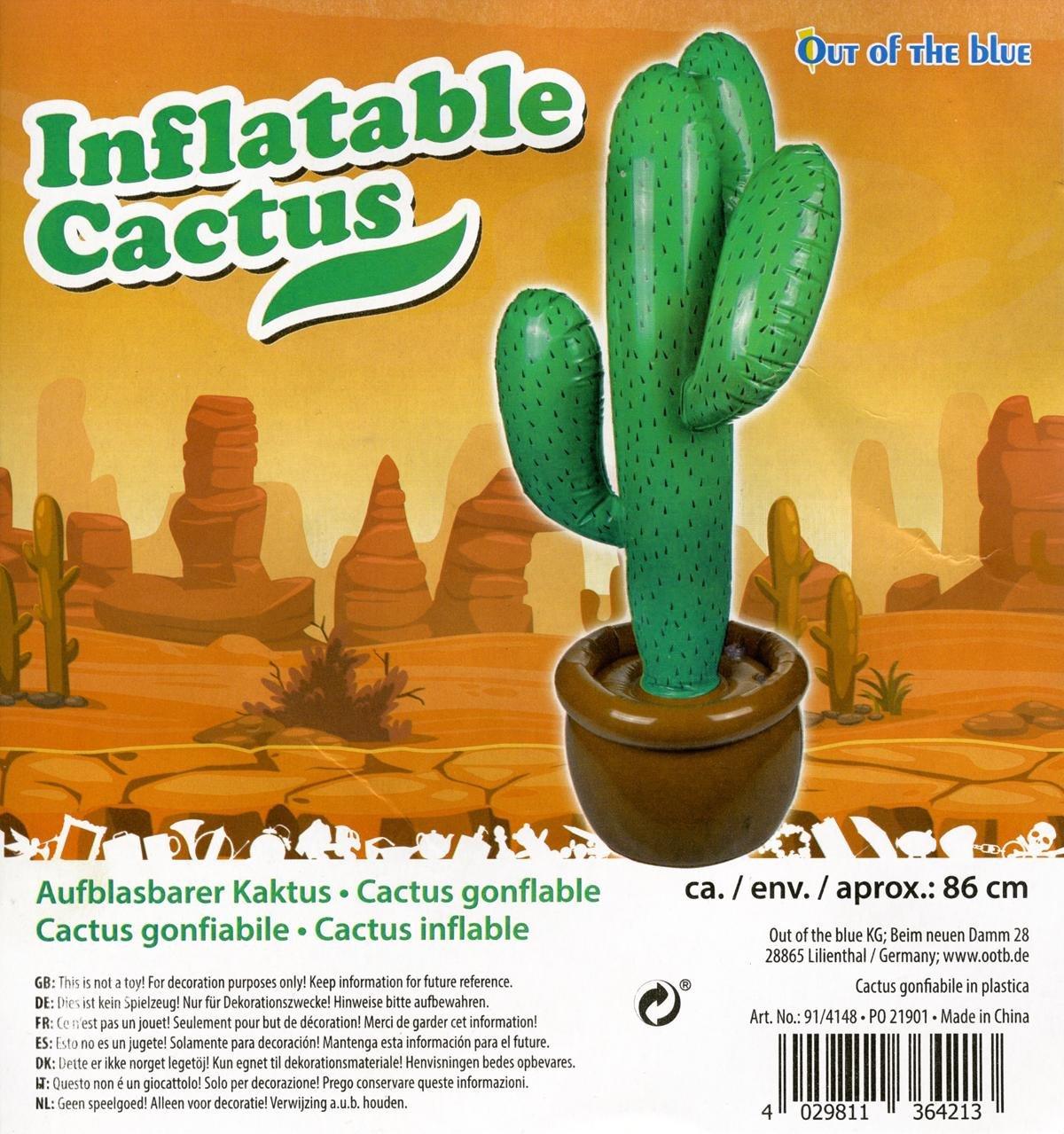 Muñeco hinchable, diseño de cactus