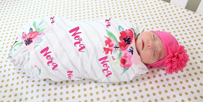 Amazon Com Personalized Baby Blanket And Headband Set
