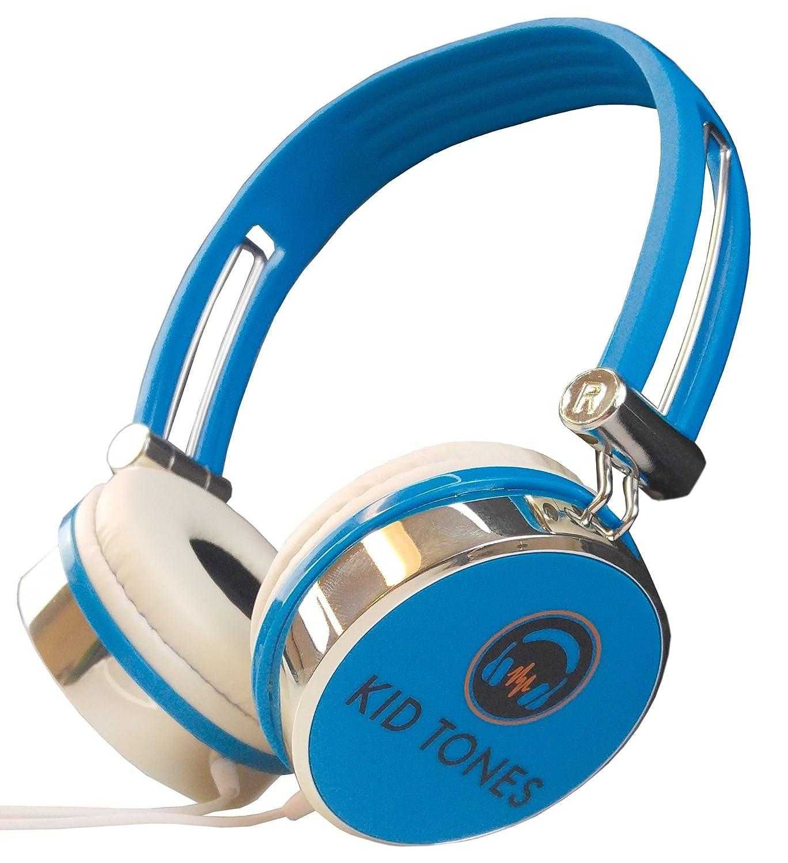 Amazon.com: KidTones Classic Silver Trim Kids Headphones w/Safety ...