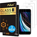 Ailun Screen Protector for Apple iPhone SE 2020 2nd Generation, iPhone 8,7,6s,6, 4.7-Inch,[3 Pack] 2.5D Edge Tempered Glass 0.25mm,Case Friendly