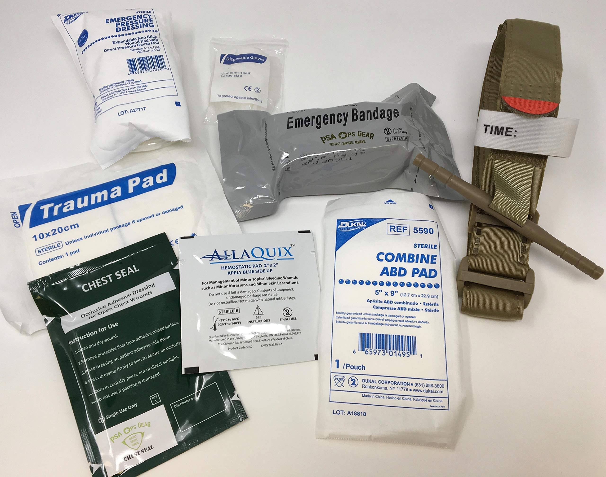 Hemorrhage Control IFAK - Contains Tourniquet + Combat Bandage +Trauma Dressing + Chest Seal (Deluxe - Best Sellers Plus)