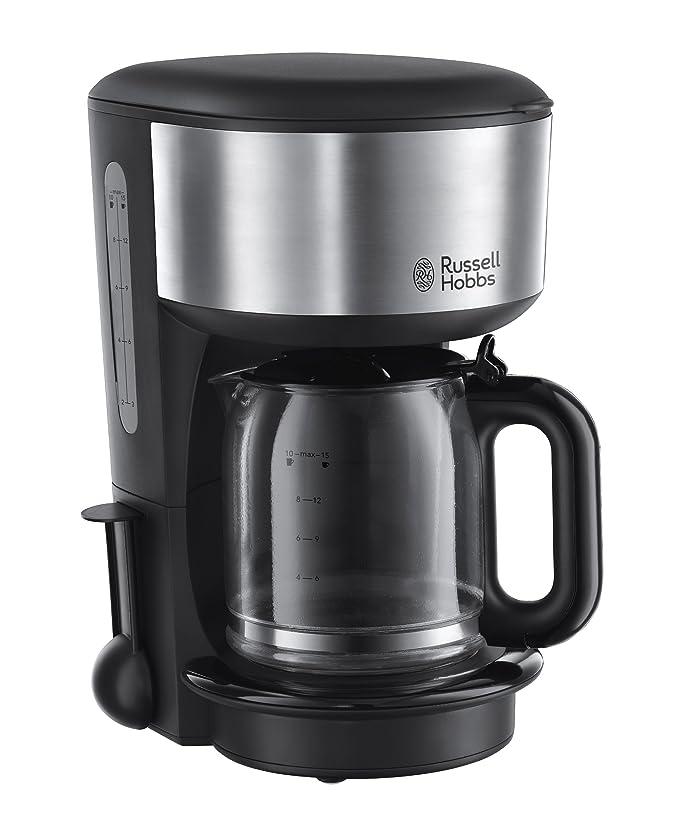 Russell Hobbs 20130-56 Oxford - Cafetera de filtro, jarra de cristal con capacidad de 1,25 l, placa calefactora: Amazon.es: Hogar