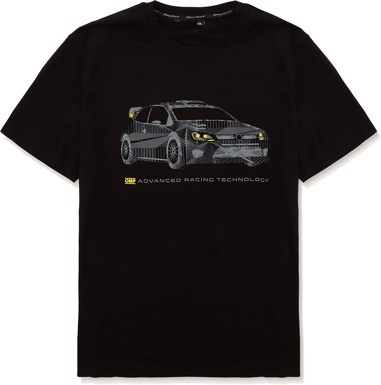 Negro OMP OMPOR5915071S Camiseta Talla S