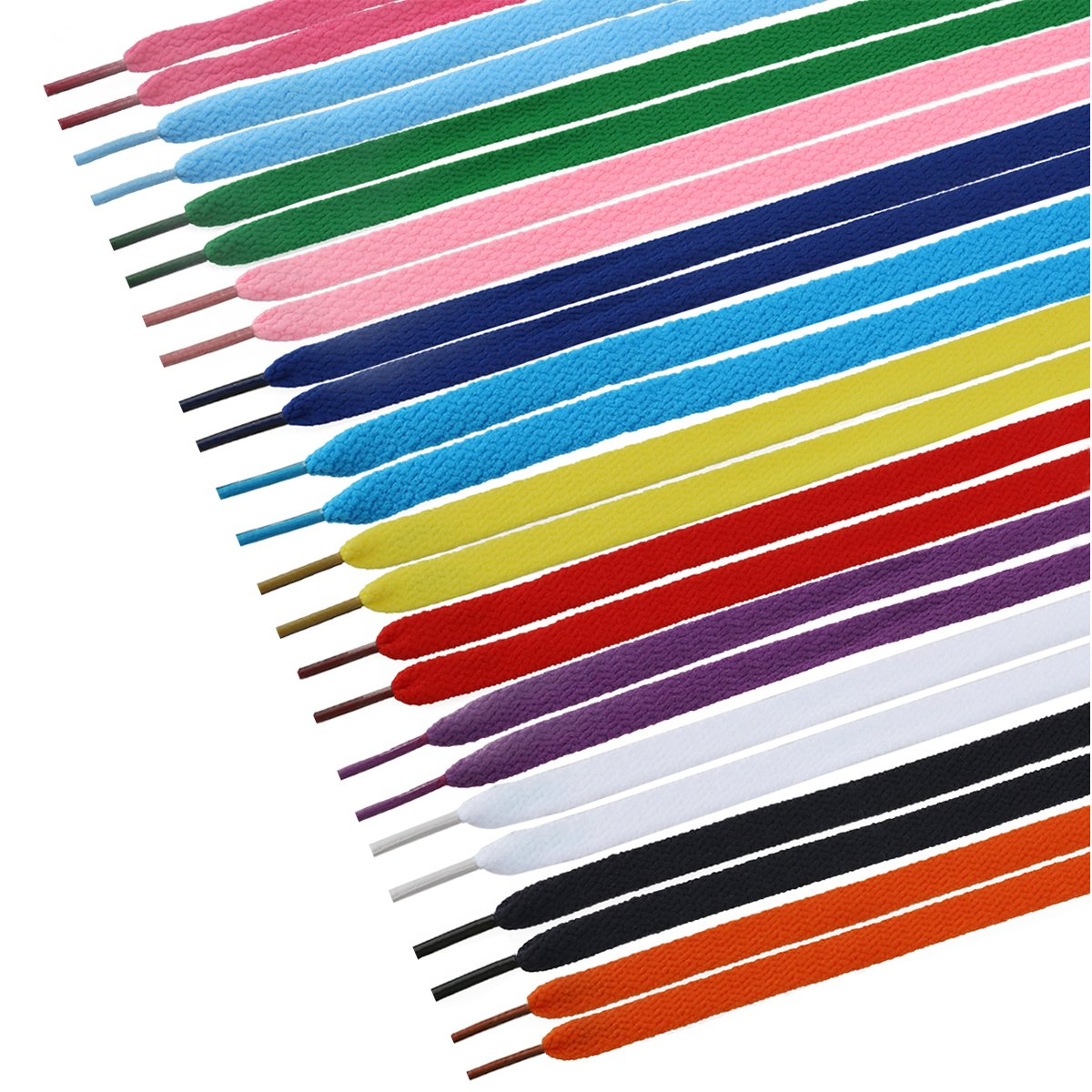 12 Pairs Flat Shoelaces Shoe Laces Strings for Sports Shoes Boots Sneakers Skates (Assorted Colors)