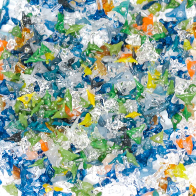 Small Glass Starfish Beads Premium Quality Hand Blown Glass Stem Filters 25+5