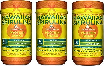 Hawaiian Spirulina plantas Proteínas Shake ijahhd, 12.8oz 16 ...