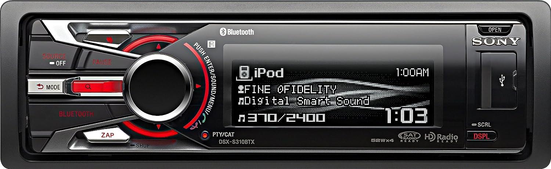 Sony DSX-S310BTX 208W Bluetooth Negro Receptor Multimedia para Coche - Radio para Coche (Negro, 208 W, 8 Ω, Giratorio, EON, 4 líneas): Amazon.es: ...