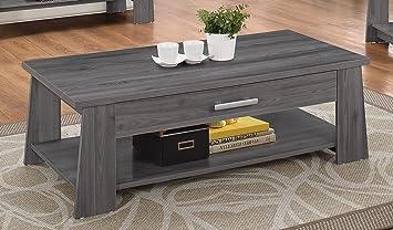 Acme Furniture 83280 Falan Coffee Table Dark Gray