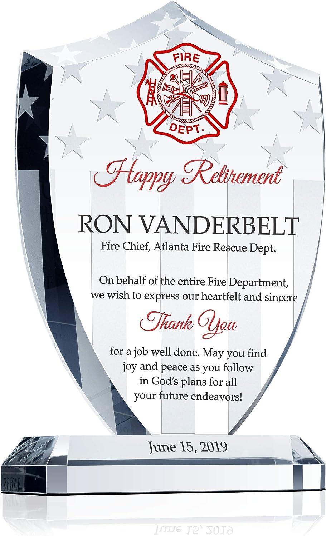 Fire Dept. Fireman/'s Gift Wood Carved Fire Department Logo Plaque