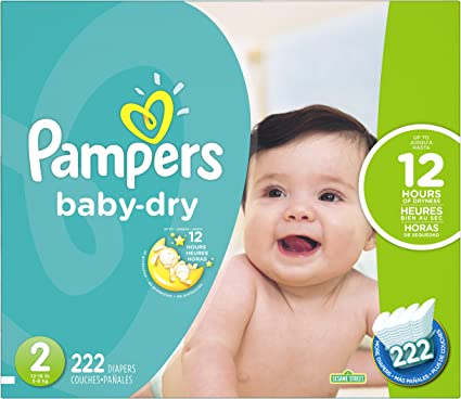 222 2 swaddlers pampers count size