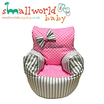 Childrens Kids Toddler PRE Filled Personalised Bean Bag Chair SEAT Girls  Boys (Next Day Dispatch) Small ...
