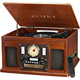 Victrola 8-in-1 Bluetooth Record Player & Multimedia Center, Built-in Stereo Speakers - Turntable, Wireless Music Streaming |
