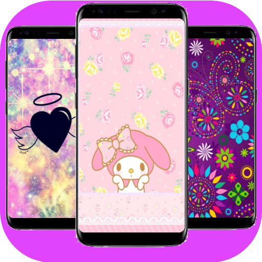 Amazon Com Wallpapers For Girls Cute Glitter Backgrounds Lock Screens Appstore For Android