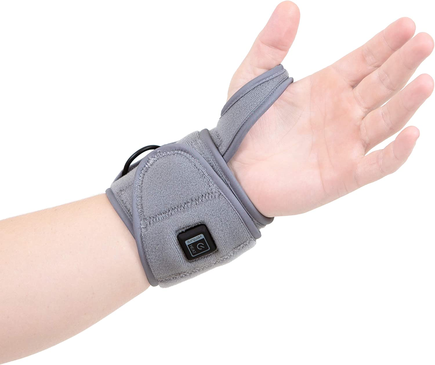 Venture Heat Infrared Wrist Heating Pad for Pain Relief Recovery Healing - Heated Wrap Brace for Sprains, Carpal Tunnel, Arthritis, Tendonitis