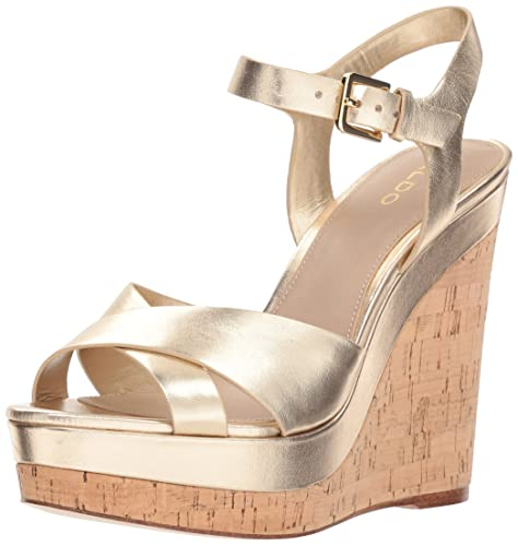 6da706ba69b1 Aldo Women s Madyson Wedge Sandal Gold 10 B US  Amazon.ca  Shoes ...