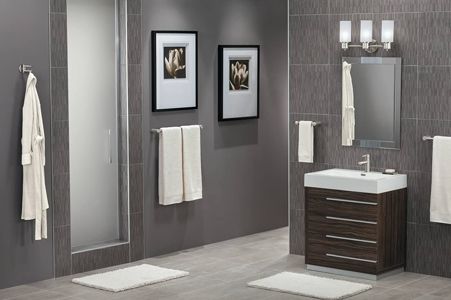bathroom brushed pics moen of accessories design nickel inspiration