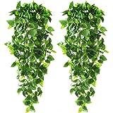 Plantas de pendurar artificiais CEWOR 2 peças, folhas de marfim falsas de 1,8 m para decoração de parede de casa, jardim, cas