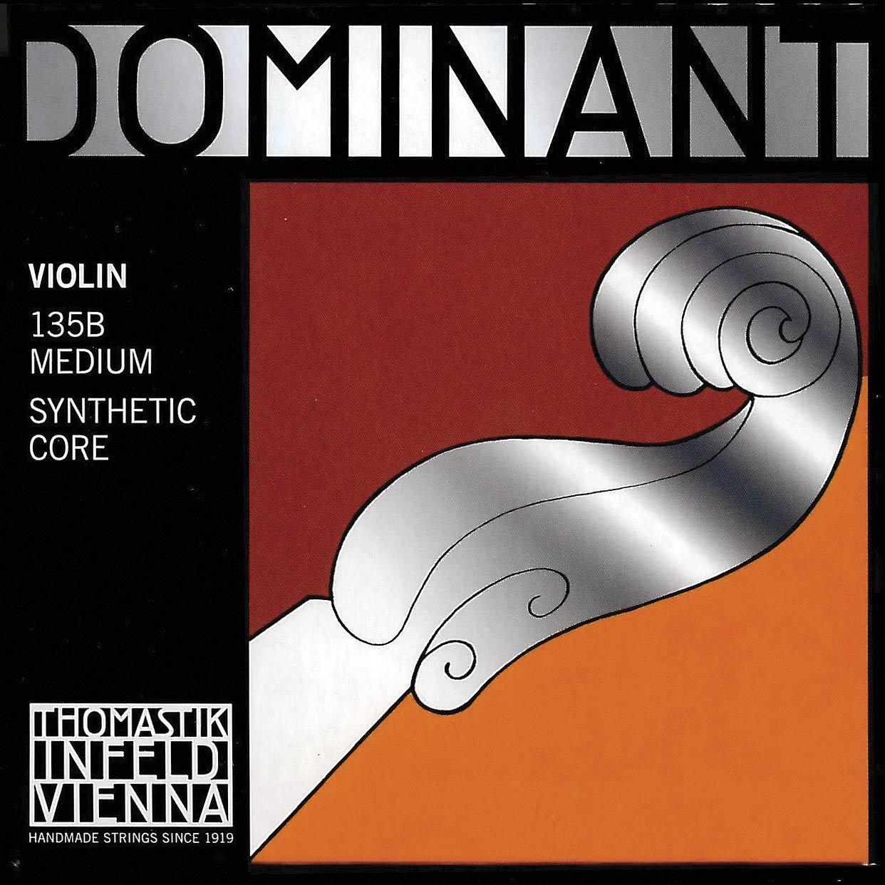 Thomastik Dominant 4/4 Violin String Set - Medium Gauge - Steel Ball-End E Tho-5505