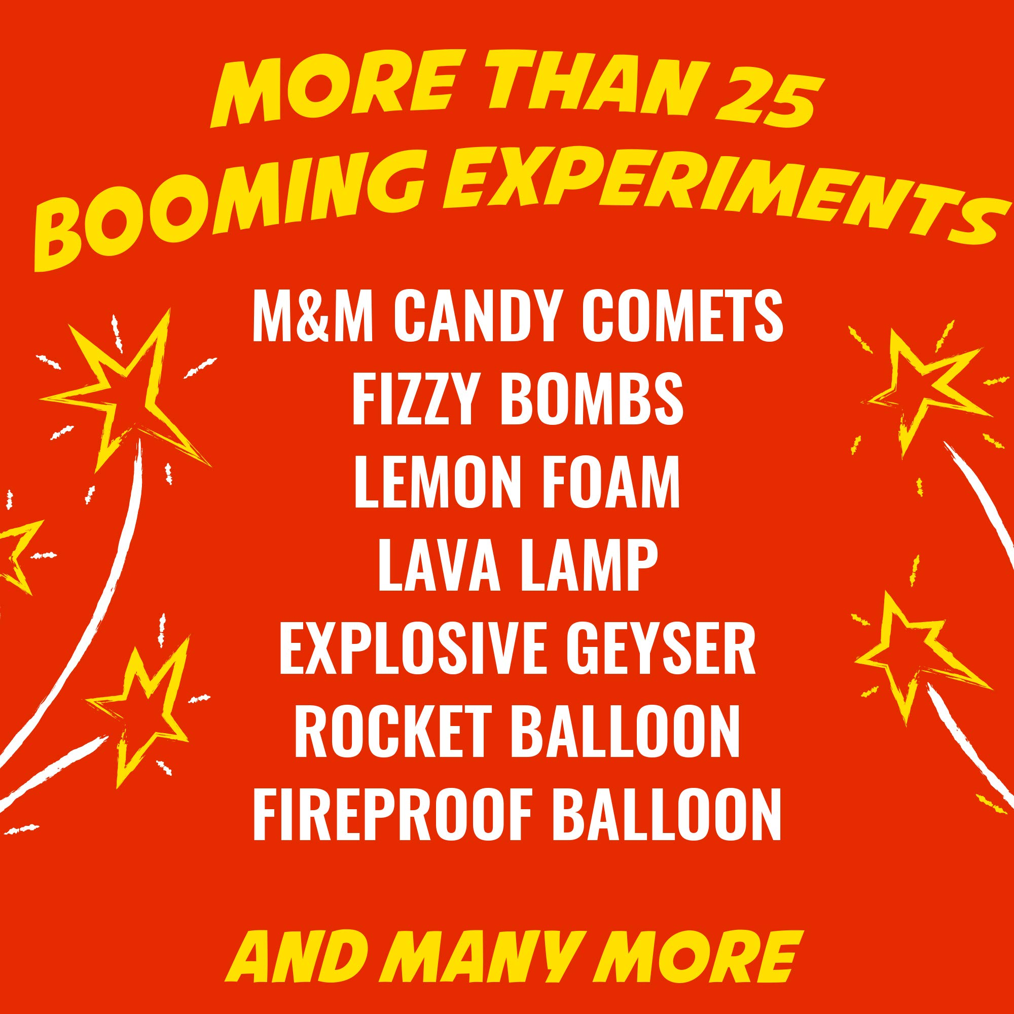 Playz Kaboom! Explosive Combustion Science Lab Kit - 25+ STEM Experiments - DIY Make Your Own Rockets, Helium Balloons, Fizzy Bombs, Color Explosions and More with Fun Chemical Reactions! by Playz (Image #2)