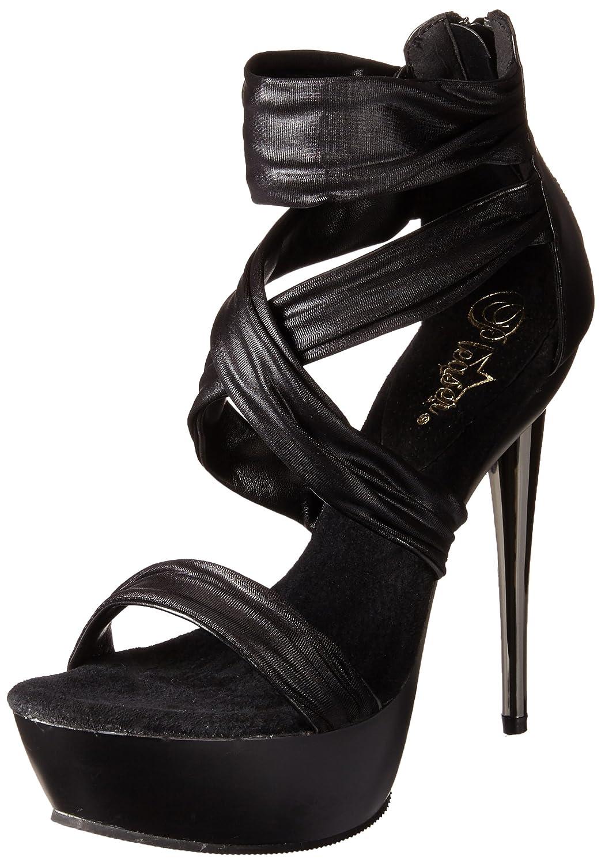 Pleaser Women's Impulse-558/BF/M Platform Sandal B00B472D26 10 B(M) US|Black Polyurethane/Fabric/Black Matte