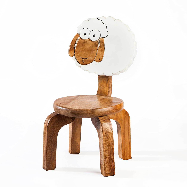 Robusta Sedia per Bambini, in legno, motivo: pecora Fairentry