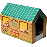 Nature In Hand Cat Scratching Pad Play House with Catnip and Scratcher