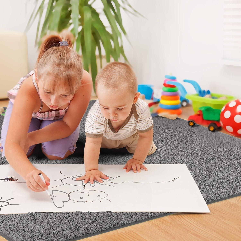 floori® shaggy teppich | grau/anthrazit - größe wählbar - gut ... - Gemutlichkeit Zu Hause Weicher Teppich